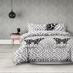 Ebern Designs This duvet cover set with an unusual pattern can quickly refresh your bedroom furnishings. Size: 155 x 220 cm - 2 Pillowcases 80 x 80 cm Duvet Cover Sets, Comforters, Pillow Cases, Blanket, Design, Bedroom, Furniture, Home Decor, Size 2