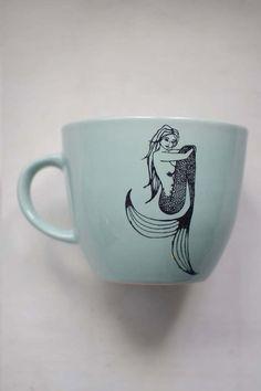 Sitting Mermaid Mug in Mint
