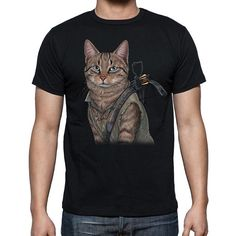 NEED THIS!!!!!! https://www.etsy.com/listing/175481797/norman-reedus-cat-black-the-walking-dead