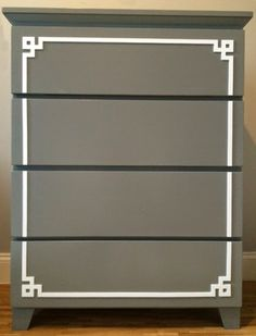 O'verlays Pippa #2 Kit for Ikea Malm 4 drawer.  Mindful Motherland : DIY Home Projects