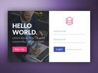 Login Form designed by Amit Keren. Form Design Web, Login Page Design, Website Design Layout, App Design, App Login, Login Form, Interface Design, User Interface, Web Panel