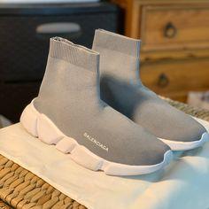 Balenciaga Shoes | Mens Balenciaga Speed Slip-On - Grey Sz43 10 Us | Color: Gray | Size: 10 Balenciaga Trainers, Balenciaga Speed Trainer, Designer Sneakers Mens, Bts Jungkook, Supreme, High Top Sneakers, Jordans