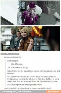 Finally at least somebody realized that Effie didn't compare the capital towards her hope and inspiration for Katniss and Peeta.