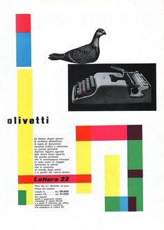 Giovanni Pintori per Olivetti Lettera 22