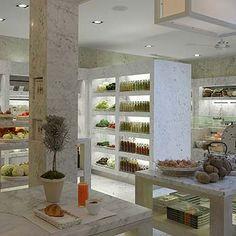 Daylesford Organic marble interior