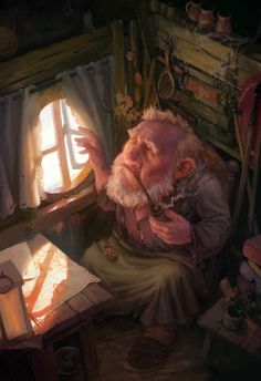 ArtStation - Old adventurer, Tomas Duchek