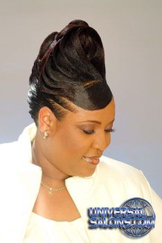 Updo Hairstyle with Ridges from Garnett Jett - Black Hairstyles from America's Top Hair Salons - UniversalSalons. Black Hair Updo Hairstyles, Roll Hairstyle, Black Girls Hairstyles, Bride Hairstyles, Twist Hairstyles, Hairdos, Trendy Hairstyles, Natural Hair Updo, Natural Hair Styles