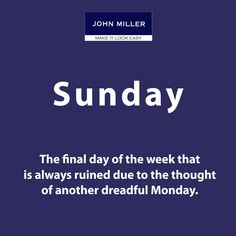 Sunday well defined