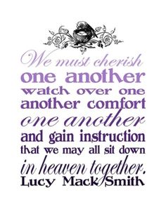 we must Cherish one another