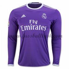 La Liga Fussball Trikots Real Madrid 2016-17 Auswärtstrikot Langarm