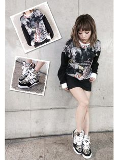 TOPSHOPのスニーカー「**MATTITUDE HIGH TOP TRAINERS BY TOPSHOP X ADIDAS…