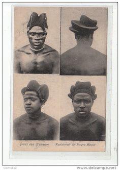 CAMEROUN - Coiffures des Hommes Pahouins (Pangwe) - très bon état - Delcampe.net