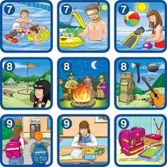 obrázkový kalendár 7 And 7, Speech Therapy, Memories, Seasons, Comics, Worksheets, Weather, Bingo, Vocabulary