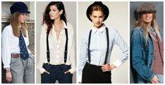 Tendências da moda para mulheres com roupas e acessórios masculinos