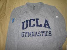 Team Issue UCLA BRUINS GYMNASTICS Long Sleeve T Shirt M  Adidas ClimaLite #adidas #UCLABruins