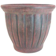 This PR Imports 19 in. Dia Tall Outdoor Tulip Planter in Dark Red Color offers great versatility for all your garden needs. The natural terracotta construction of this pot stimulates root growth and healthy Garden Planters, Planter Pots, Potted Plants, Dark Red, Terracotta, Tulips, Pottery, Clay, Vase