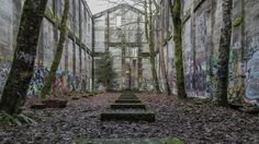An old fuel bunker from a lumber mill that closed in 1957. Vernonia, Oregon (OC) [1920x1080] - Imgur