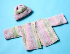 Rose Lichen Cardigan And Hat Pattern (Knit)