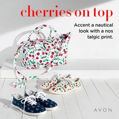 Nautical look by AVON. Have you see the latest brochure? Click to Shop. #nautical #fashions #shoes #purses #avon