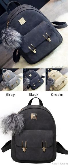 Leisure Frosted PU Zippered Bag With Metal Lock Match School Backpack for  big sale!   9d5f92307afdc