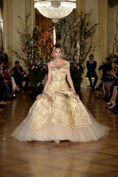 Dolce & Gabbana stages its Alta Moda (Couture) presentation in Milan - its 2015 collection inspired by Italian Opera and Ballet.