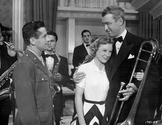 I've been thinking a lot about style icons lately and June Allyson in the Glenn Miller Story was definitely one of my first. Especially when she comes downstairs in that fabulous black and white skirt.