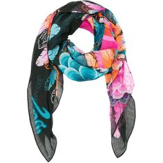 Desigual Women's Rectangle Far West Scarf ($40) ❤ liked on Polyvore featuring accessories, scarves, colorful shawl, summer scarves, multi colored scarves, desigual and woven scarves