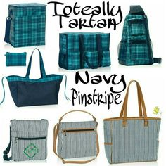 Thirty-One Fall/Winter 2016 Pattern, Totally Tartan and Navy Pinstripe #31…