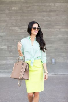 jcrew-spring-style-guide-2014 mint and lime for work!