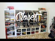Como montei um closet completo com móveis prontos por R$1.000! - YouTube