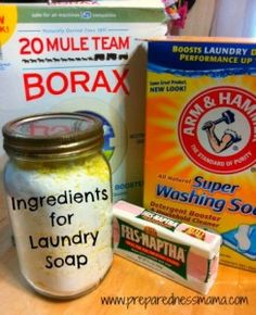 Stocking Up On DIY Laundry Soap, incl. recipe for DIY Liquid Laundry Soap for HE Washers