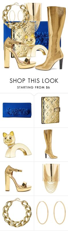 """""""Just thinking aloud..."""" by kristina-lindstrom ❤ liked on Polyvore featuring Steve Madden, Louis Vuitton, Boucheron, Yves Saint Laurent, Charlotte Russe, Kenneth Jay Lane and Loren Stewart"""