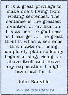 Quotable - John Banville - Writers Write Creative Blog