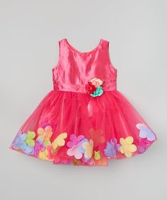 Look what I found on #zulily! Wenchoice Hot Pink & Yellow Petal Tutu Dress - Infant, Toddler & Girls by Wenchoice #zulilyfinds