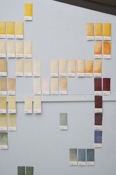 Raw Color by Raw Color    A visual research about vegetables and their powerful color. Vegetables are dismantled and purified to their visual essence 'RAW COLOR'. The harvested color is captured by a new process preserving their intensity on color cards. Categorized by shades and families a new map is created which shows their beautiful diversity. This projects reinterprets the vegetable and puts it into new context.
