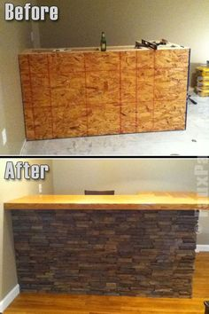 "43 Insanely Cool Basement Bar Ideas for Your Home - ""Bar"" Ideen/ Gestaltung - Outdoor Kitchen Diy Design, Design Ideas, Interior Design, Wood Design, Bar Sala, Home Bar Plans, Patio Bar, Backyard Bar, Diy Patio"