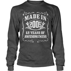 Made in 2005 12 Years Of Being Awesome #gift #ideas #Popular #Everything #Videos #Shop #Animals #pets #Architecture #Art #Cars #motorcycles #Celebrities #DIY #crafts #Design #Education #Entertainment #Food #drink #Gardening #Geek #Hair #beauty #Health #fitness #History #Holidays #events #Home decor #Humor #Illustrations #posters #Kids #parenting #Men #Outdoors #Photography #Products #Quotes #Science #nature #Sports #Tattoos #Technology #Travel #Weddings #Women
