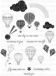 Up, Up & Away Stamp Set: Papertrey Ink Clear Stamps Dies Paper Ink Kits Ribbon Balloon Crafts, Ink Stamps, Scrapbook Supplies, Scrapbooking, Fall Cards, Pen And Paper, Copics, My Stamp, Colouring Pages