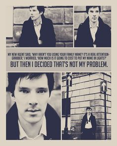Yeah! Benedict's an icon of being yourself, not catering to the expected archetypes. <3 The world is boring enough as it is, don't need more clones.