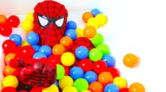 BALL PIT SHOW Spiderman Real Life Bath Time