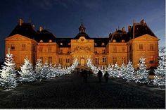Château Vaux le Vicomte celebra o Natal