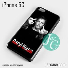 Norman Rreedus as Daryl Dixon Middle Finger - Z Phone case for iPhone 5C and other iPhone devices