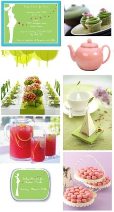 Tea party for baby (or bridal) shower