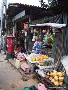 Street fruit market . Sri Lanka