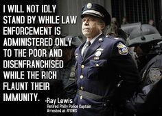 Yes!  Whatever one thinks about OWS, I hope we all agree about this officer's statement.