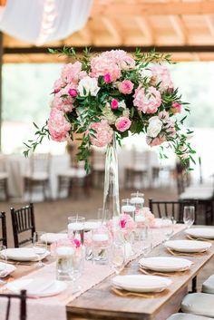 Romantic Glitzy Pink North Carolina Wedding - MODwedding