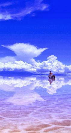 Salar de Uyuni, Bolivia: World's largest salt flat - becomes a reflection during rainy season Places Around The World, Oh The Places You'll Go, Places To Travel, Places To Visit, Around The Worlds, Beautiful World, Beautiful Places, Future Travel, Adventure Is Out There
