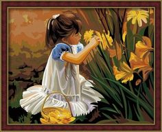 DR 042- Little Girl with Flowers Rp 227.000,-  Canvas size: 40 x 50 Packaging size: 41 x 51 x 3,5 cm (setara 2 kg)  ALICE painting kit sudah termasuk - Kanvas pattern lukisan yg dibuat dari high grade cotton dengan tekstur halus. - Cat pigment warna yg ramah lingkungan, tidak beracun dan tidak cepat pudar. - Beberapa kuas nylon. - Kertas manual kode warna  Email: jjbigstore@yahoo.com Path: Silvblue Shop Instagram: @silvblue We Chat, Line: silvblue SMS: 0818 0832 9022 WhatsApp 0896-2860-9094