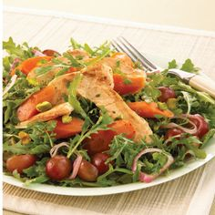 Recipe: Roasted Carrot and Chicken Salad with Grapes and Pistachios: Organic Gardening