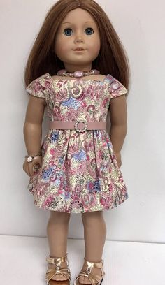 Doll Clothes Patterns, Doll Patterns, Clothing Patterns, American Girl Dress, American Dolls, Ag Dolls, Girl Dolls, My Life Doll Clothes, American Girl Accessories